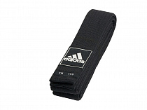 Пояс для тхэквондо Adidas Competition black belt, черный
